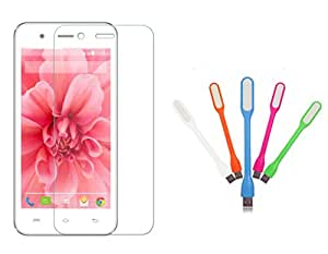 2017 GST Offer Buy one Coolpad Note 3 lite 0.3 mm Curve Bubble Free Scratch Free Tempered Glass Get One USB LED Light 5V