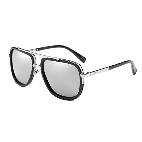 SHEEN KELLY Retro Männer polarisierenden sonnenbrillen piloten Platz der metallische Gläser Sonnenbrillen UV400 Spiegel Linsen Silber