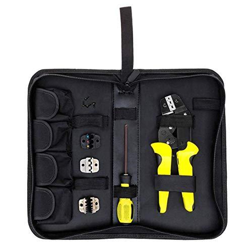 Prima05Sally 4 in 1 Professionelle Draht Crimper Zangen Ratschen Terminal Crimpzange Repair Tool Mit Aufbewahrungstasche Griff Greifwerkzeug -