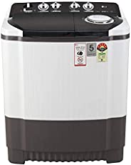 LG 8 Kg 5 Star Semi-Automatic Top Loading Washing Machine (P8035SGMZ, Grey, Collar Scrubber)