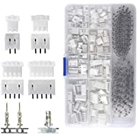 QLOUNI 560pcs JST-XHP Conector Cables Kit de 2,54 mm de Hembra Pin Header JST-PH 2/3/4/5 Pin Conector Enchufe Macho y Hembra