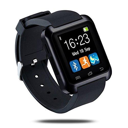 LaTEC SmartWatch bluetooth, orologio intelligente, fitness band, orologio telefono, orologio da polso con touch screen, pedometro per Android OS Smartphone (Nero)
