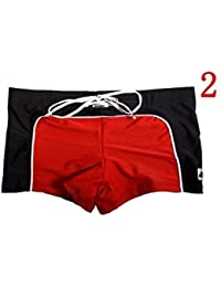 Fitness sports store Men's Red Branded Designer Swimming Swim Shorts