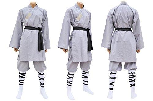 Shaolin-Anzug, Baumwolle, grau Large / X-Large grau