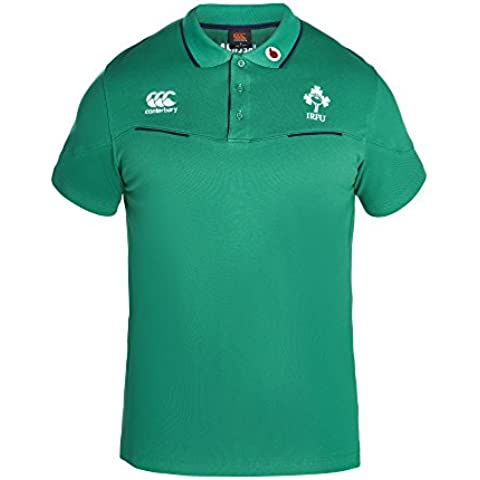 Canterbury–Camiseta de Irlanda Algodón Polo de manga corta para hombre–Bosphorous grande, color verde