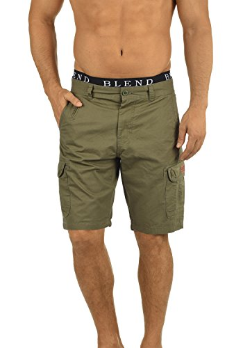 BLEND 20702259ME Crixus Cargo Shorts, Größe:S;Farbe:Dusty Green (70595)