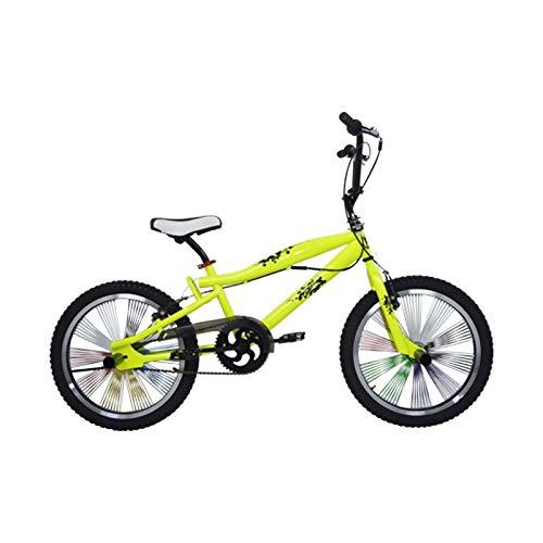 Riscko Bicicleta BMX 360º Amarillo Fluor