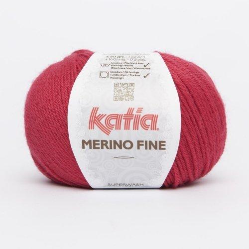 Katia Merino Fine - Farbe: Cereza (29) - 50 g / ca. 160 m Wolle -