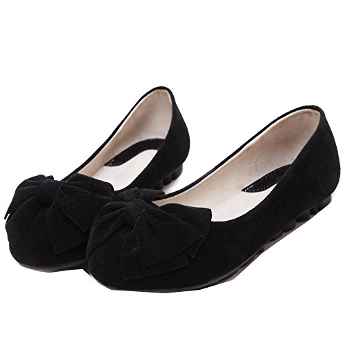 Mädchen Bogen Weiche Einzelschuhe Gemütlich Flache Schuhe Ballerinas Schwarz
