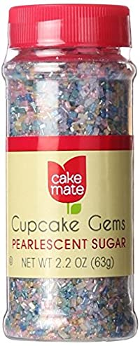 Cake Mate 2.20 Ounce Pearlescent Sugar Cupcake Gem