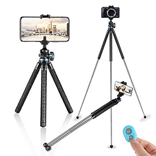 Coolwill RL2089 Reise Stativ Handy Stativ Selfie-Stick mit Kabelloser Fernbedienung, 39 Zoll Leichtes Stativ für Reisen, Bergsteigen, Camping am Meer (Blau)