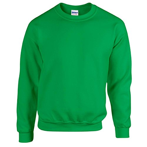 Gildan Heavy Blend Erwachsenen Crewneck Sweatshirt 18000 XL, Irish Green Grüne Cord Jumper