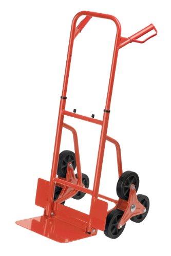 Meister Stufen-Sackkarre - Klappbar - Bis 120 kg Tragkraft - Höhenverstellbar / Stapelkarre für Getränkekisten / Transportkarre mit höhenverstellbarem Griff / Transporthilfe mit Metallrahmen / 8985750