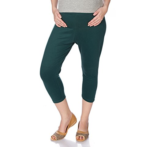Goldstroms Women's Maternity Capri (Bottle Green, XL)