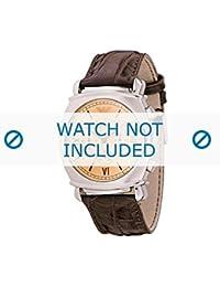 Armani correa de reloj AR-0286 Piel de cocodrilo Marrón 24mm(Sólo reloj correa - RELOJ NO INCLUIDO!)