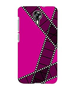 Fuson 3D Printed Colour Pattern Designer Back Case Cover for Micromax Canvas Xpress 2 E313 - D910