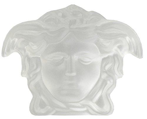 Rosenthal Versace Briefbeschwerer in Kristall satiniert