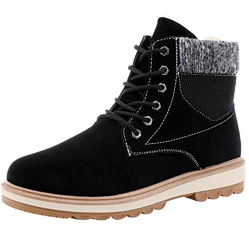 Preisvergleich Produktbild Schnürer Sunnyadrain Herren Retro Martin Fleece Pure Farbe Patchwork Casual Sneakers Herbst Winter AtmungsAktive Bequeme Loafers Footträgt