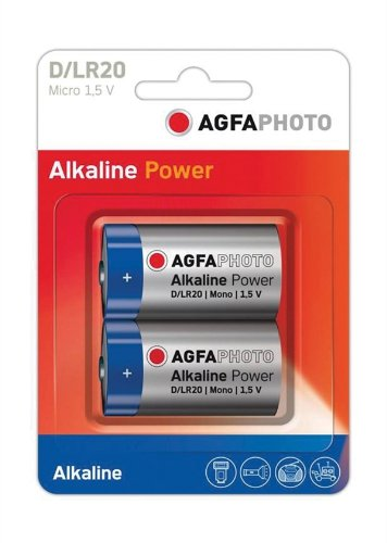 Alkaline Blister Pack (AGFA PHOTO D Alkaline Batterie. Blister 2er-Pack.)