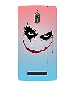 Takkloo joker villian,black eyes, red lips, trendy cover) Printed Designer Back Case Cover for Oppo Find 7 :: Oppo Find 7 QHD :: Oppo Find 7a :: Oppo Find 7 FullHD :: Oppo Find 7 FHD