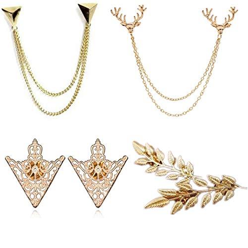 PPX 4 pezzi pullover Clip Colletto Maglione Cardigan sciarpa metallo clip blusen Clips Pullovers Metallclips argento giacca per gioielli Cirkonia