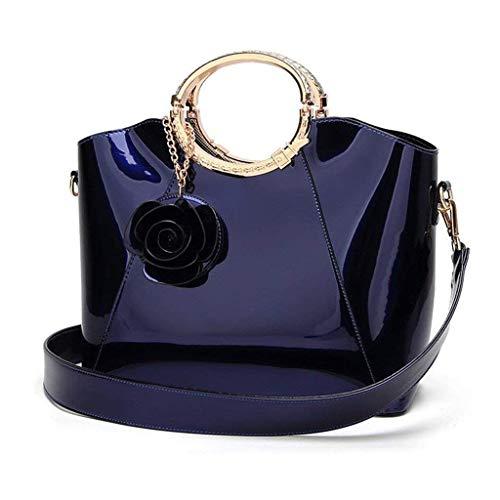 JJZXT Dark Blue Mode-Handtasche, Handtasche Art und Weise beiläufige Dame Umhängetasche Umhängetasche Big Bag
