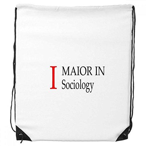DIYthinker Ich Major Soziologie College-Student-Rucksack Einkaufstasche Sporttaschen Geschenk