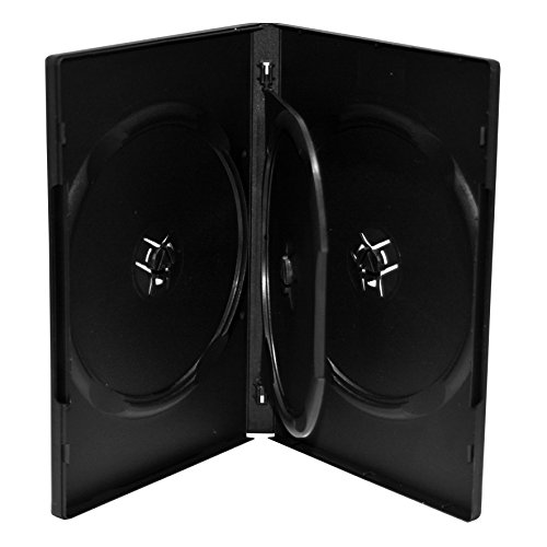 MediaRange DVD-Leerhülle für 3 Discs, 14mm, schwarz, 50 Stück