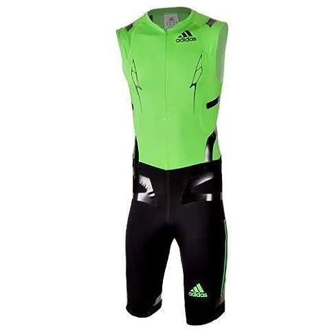 adiZero Powerweb Sprint Suit Thermoplastic Polyurethane for Men Intense Green/Black intensgreen - black Size:XL