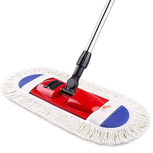 Ytuoba Faltender Flacher Mopp, Haushalts-Holzfußboden-Fliese kann mit dem Tuch eingewickelt Werden, das den Mopp dreht, trocken und nass/rot hj