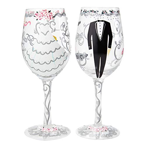 Lolita Bride & Groom Wedding Gift Set, Glas, Mehrfarbig 8.5 x 8.5 x 22.5 cm