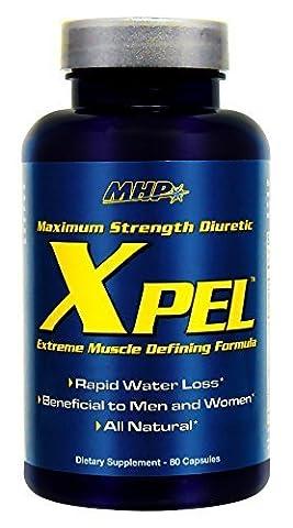 MHP Xpel Maximum Strength Diuretic, Capsules , 80 capsules (Pack of 3) by Maximum Human Performance