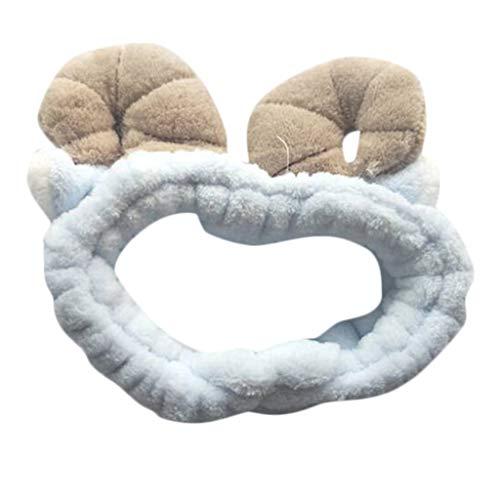 Setsail Damen 3D Lamm Wäschehaarzusätze Karikaturkarikaturhörner hohes elastisches Bowknot Stirnband Haarband Haarschmuck Haar Wrap (A)