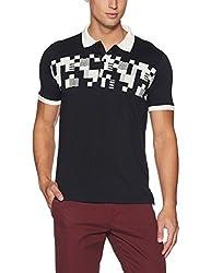 Van Heusen Mens T-Shirt (VHKP517M00227_Black_Large)