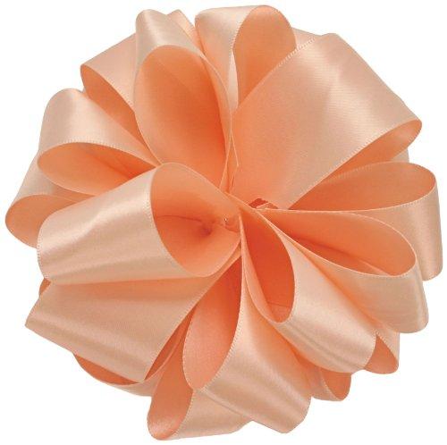 Unbekannt Offray Satin-Band, doppelseitig, 1,6 cm breit, mit 20 m Spule, Petal Peach (vom Hersteller eingestellt) (Peach Doppelseitiges Satin-band)