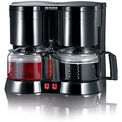 Severin KA 5802 Duo Filterkaffeemaschine mit Glaskannen Schwarz