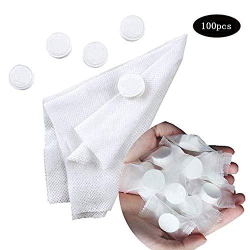 100 stücke Magie Komprimiert Reise Handtuch Vlies Waschlappen Einweg Kosmetiktuch Tablet Tragbare Komprimieren Handtuch -