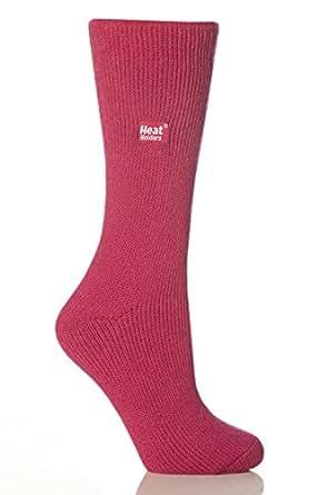 1 Paar Damen / Herren / Unisex echte Original-Thermal-Winter-warme Hitze Inhaber Socken Größe 4-8 uk, 37-42 Eur Himbeere