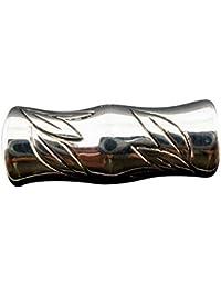Housweety Bijoux - Perles spacer sculptees bambou en Acrylique Pr Bracelet Charms 25x10mm - 30 Pcs