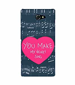YuBingo Sony Xperia M2 Dual :: Sony Xperia M2 Dual D2302 Designer Phone Back Case Cover ( You Make My Heart Sing )