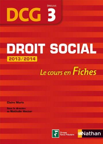 DROIT SOCIAL EPREUVE 3 DCG FIC