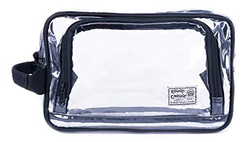 Rough Enough Große Klar PVC Kosmetik Beutel Toilettentasche Wasteland Tragetasche Durchsichtige Kulturbeutel Schminktasche Handgepäck Für Flüssigkeits Flasche Behälter Reiseset Reisen TSA genehmigte (Make Up Kits Für Teens)