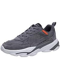 HEETEY - Zapatillas de Deporte para Hombre, de Gran tamaño, Transpirables, para Exteriores, Casuales, Transpirables, Ligeras, Resistentes a los Golpes