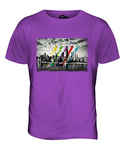 CandyMix Chicago Skyline Herren T Shirt Violett