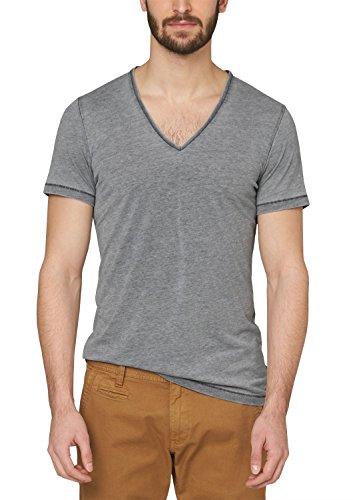 s.Oliver Denim Herren T-Shirt 44.899.32.0144, Einfarbig Grau (blue melange 98W0)