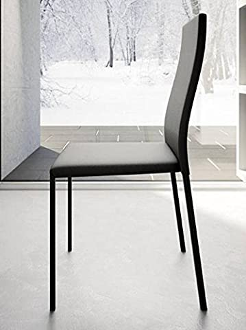Upper-Structure métal empilable chaise chaise en cuir rembourrage d'éco-conception fait de l'Italie Président*2