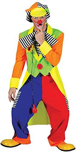 Herren MODERN Rainbow Clown Zirkus Direktor Circus Festival Carnival Fancy Kleid Kostüm ()