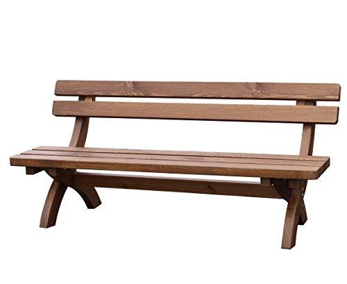 TPFGarden Gartenbank Holzbank Bad Urach 4-sitzer aus Kiefer massiv | Holz von höchster Qualität | Farbton: Kiefer braun lasiert | 1 Stück