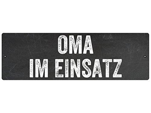 KUNSTSTOFFSCHILD mit Saugnapf Autoschild OMA IM EINSATZ Geschenk Deko Innenraum