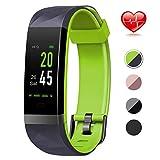 Lintelek Fitness Tracker Fitness socken mit Pulsmesser Wasserdicht IP68 0,96 Zoll Farbbildschirm Smartwatch Aktivitätstracker Pulsuhren Schrittzaehler Uhr Smart Watch Fitness Uhr